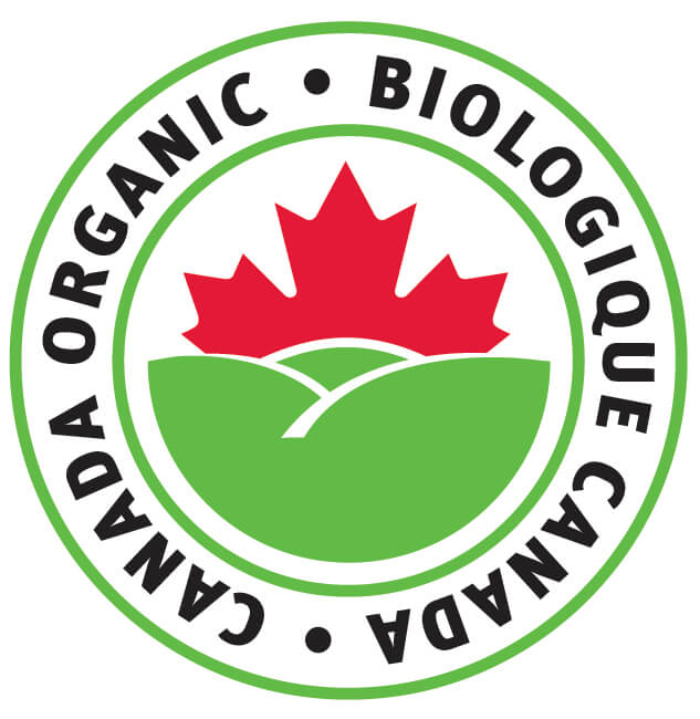 This logo indicates a product meets Canada's organic standards
